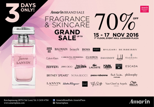 Amarin Brand Sale- Fragrance & Skincare Sale