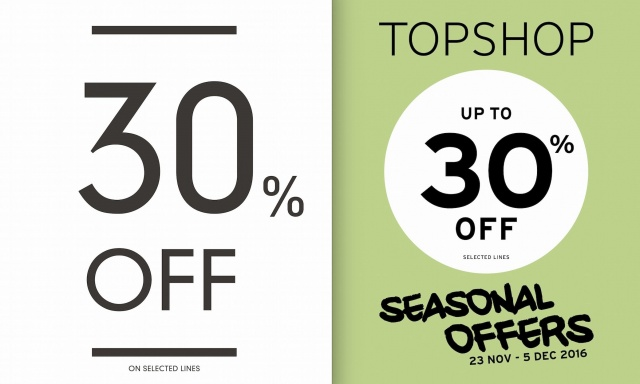 Topshop - Topman Seasonal Offer