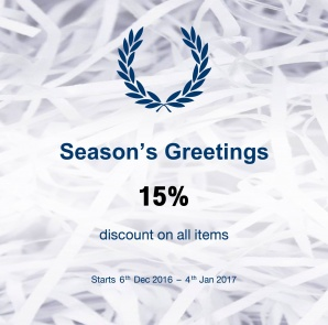 "Fred Perry  ""Season's Greetings"""