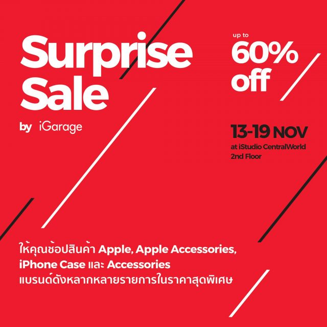 iGarage Surprise Sale