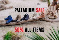PALLADIUM SALE ลด 50% ทุกชิ้น (23 ม.ค. – 4 ก.พ. 61)