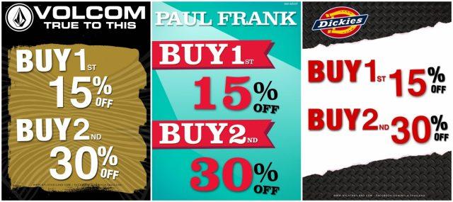 NYLA / Paul Frank / Volcom / Dickies ลดสูงสุด 30% (18 ม.ค.- 4 ก.พ.61)