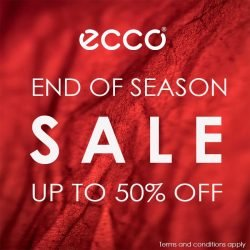 ECCO End of Season Sale ลดสูงสุด 50% (เริ่ม 25 พ.ค. 2561)