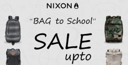 "NIXON ""BAG to school"" ลดสูงสุด 70% (25 พ.ค. – 10 มิ.ย. 2561 )"