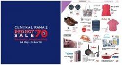 CENTRAL RAMA 2 THE RED HOT SALE ลดสูงสุด 70% (24 พ.ค.- 3 มิ.ย. 2561)