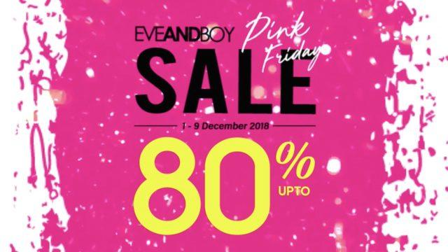 Eveandboy PINK FRIDAY SALE 2018 ลดทั้งร้านสูงสุด 80% (1 - 9 ธ.ค. 2561)