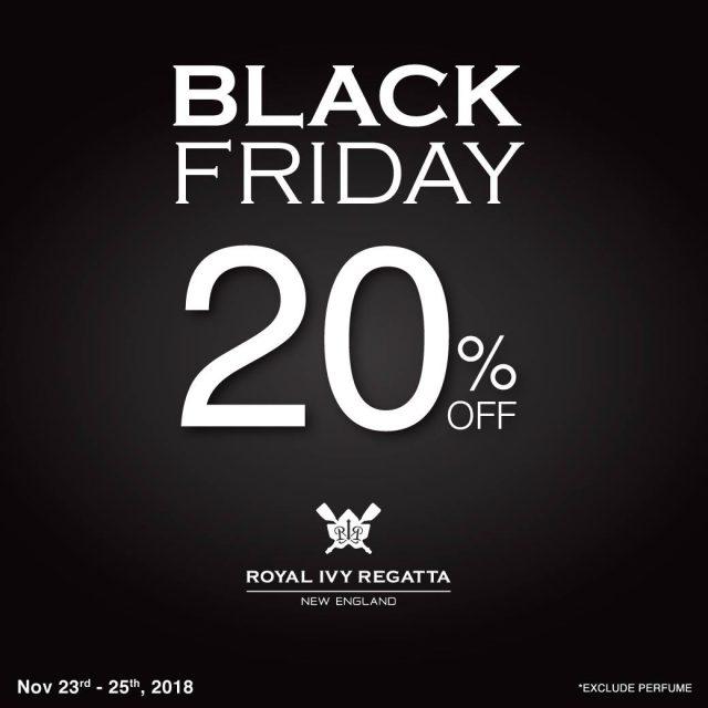 Royal Ivy Regatta Black Friday ลด 20% (23 - 25 พ.ย. 2561)