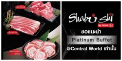 Shabushi Platinum Buffet @ Central World (2 พ.ย. – 31 ธ.ค. 2561)