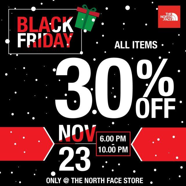 The North Face Black Friday ลด 30% ทุกชิ้น (23 พ.ย. 2561)