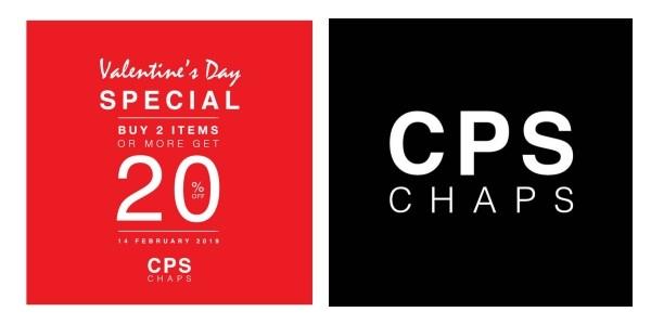 CPS CHAPS Valentine's Day Special ซื้อ 2 ชิ้นลด 20% (14 ก.พ. 2562)