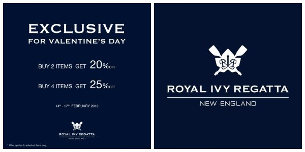 Royal Ivy Regatta End of Season SALE ลดราคา 10 มิถุนายน - 7 กรกฎาคม 2562