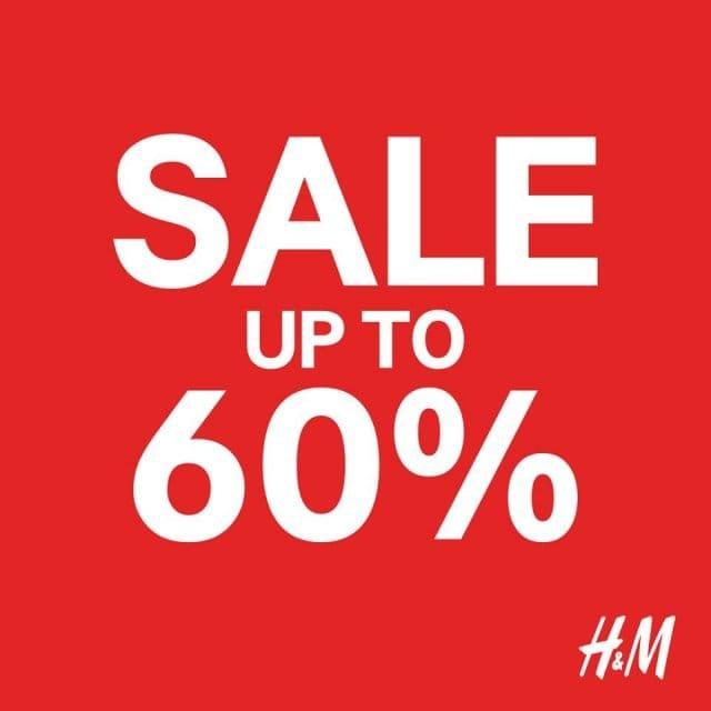 H&M End of Season SALE ลดสูงสุด 50% ทุกสาขา และออนไลน์ (11 - 24 มิ.ย. 2563)