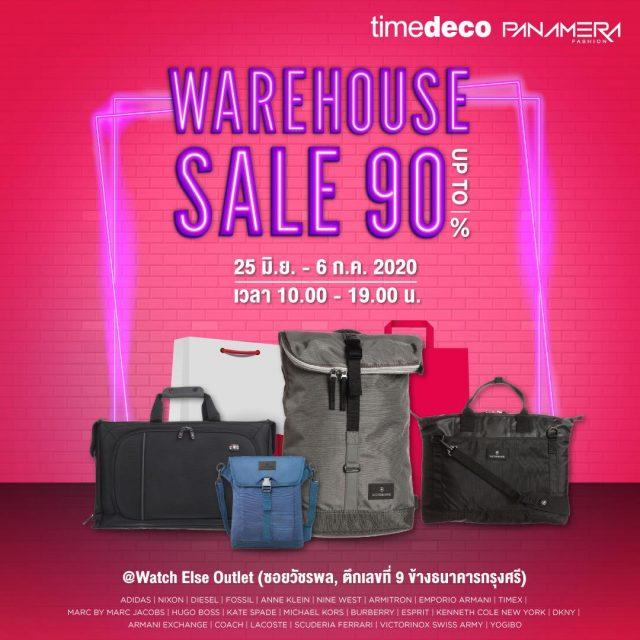 Timedeco / Panamera Warehouse SALE ลดสูงสุด 90% ที่ ซอยวัชรพล (25 มิ.ย. - 6 ก.ค. 2563)