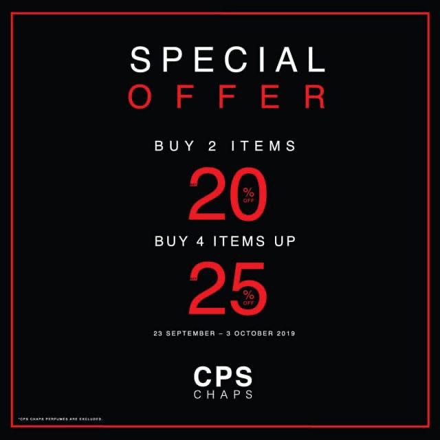 CPS CHAPS Special Offer ฉลองเปิดร้านอีกครั้ง ลด 30% (17 - 29 พ.ค. 2563)