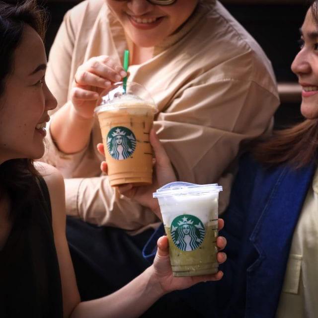 Starbucks เครื่องดื่ม สตาร์บัคส์ ซื้อ 1 แถม 1 ฟรี (14 กุมภาพันธ์ 2563)