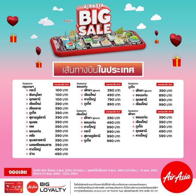 AirAsia Big SALE 2019 แอร์เอเชีย บิ๊กเซล 0 บาท (2 - 10 พฤศจิกายน 2562)