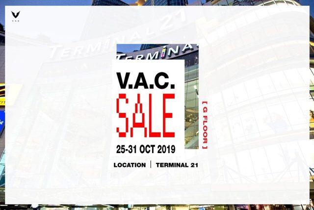 V.A.C. ON SALE @ Terminal 21 อโศก (25 ตุลาคม - 3 พฤศจิกายน 2562)