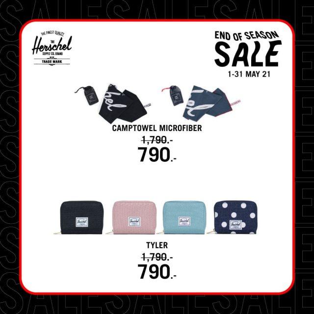 Herschel End of Season Sale เริ่มต้น 790 บาท (1 - 31 พ.ค. 2564)