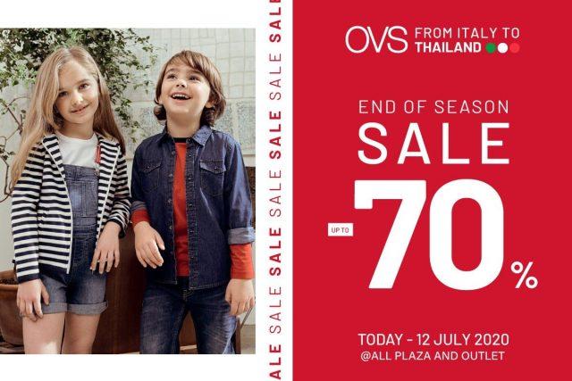 OVS End of Season Sale ลดสูงสุด 70% (1 - 12 ก.ค. 2563)