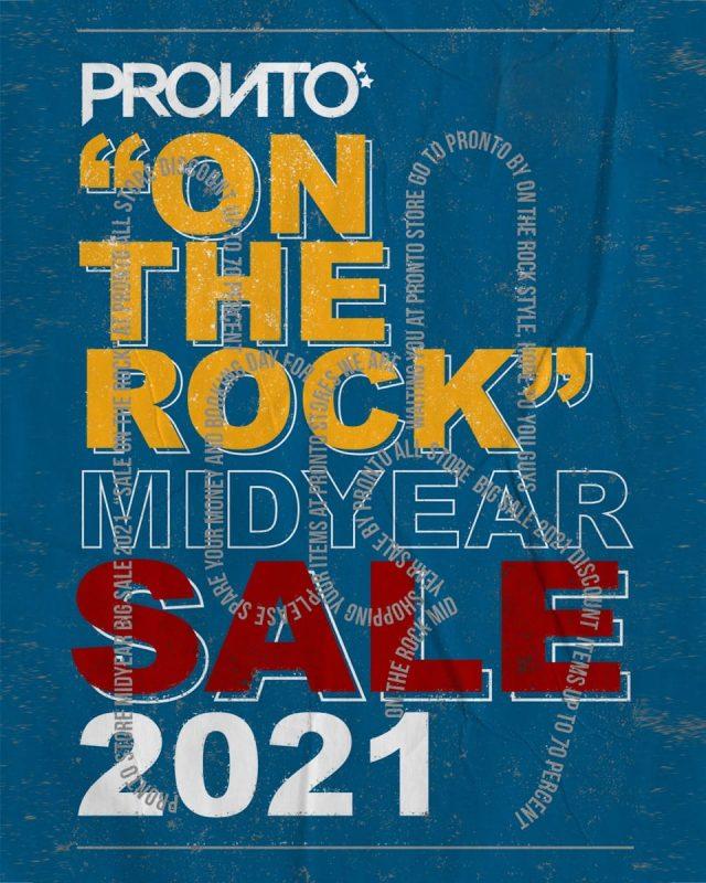 PRONTO ON THE ROCK Mid Year SALE 2021 (เริ่ม 26 มิ.ย. 2564)