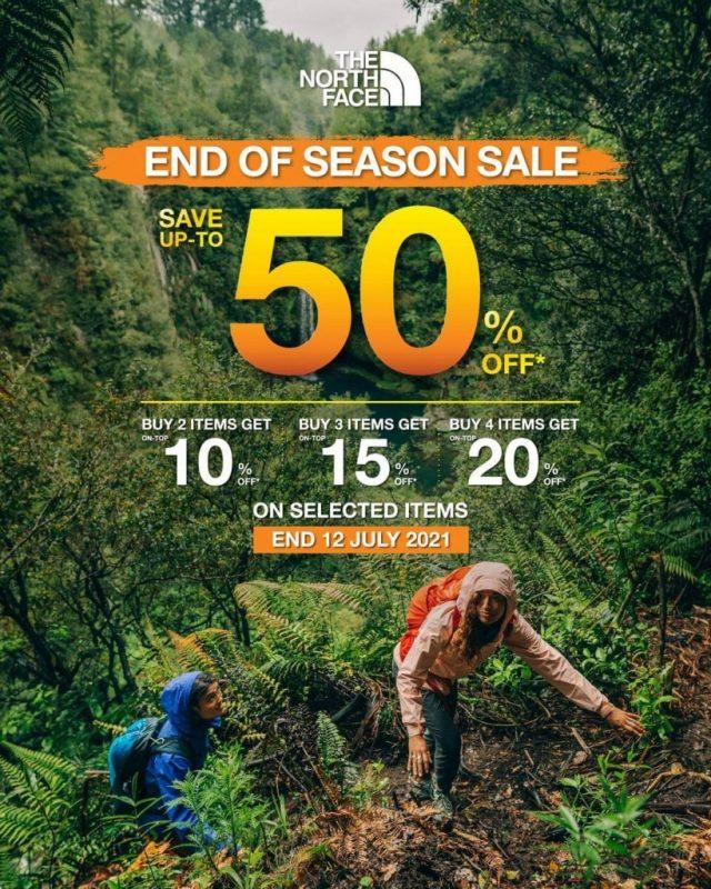 The North Face End of Season SALE ลดสูงสุด 50% (ถึง 12 ก.ค. 2564)